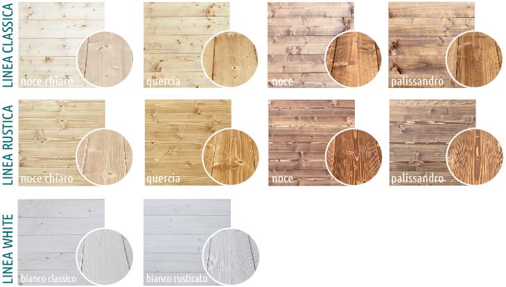 colorazioni tetti  legno